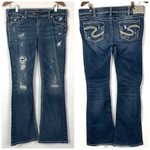 Silver Jeans Tuesday Low Rise Boot Cut Jeans 31